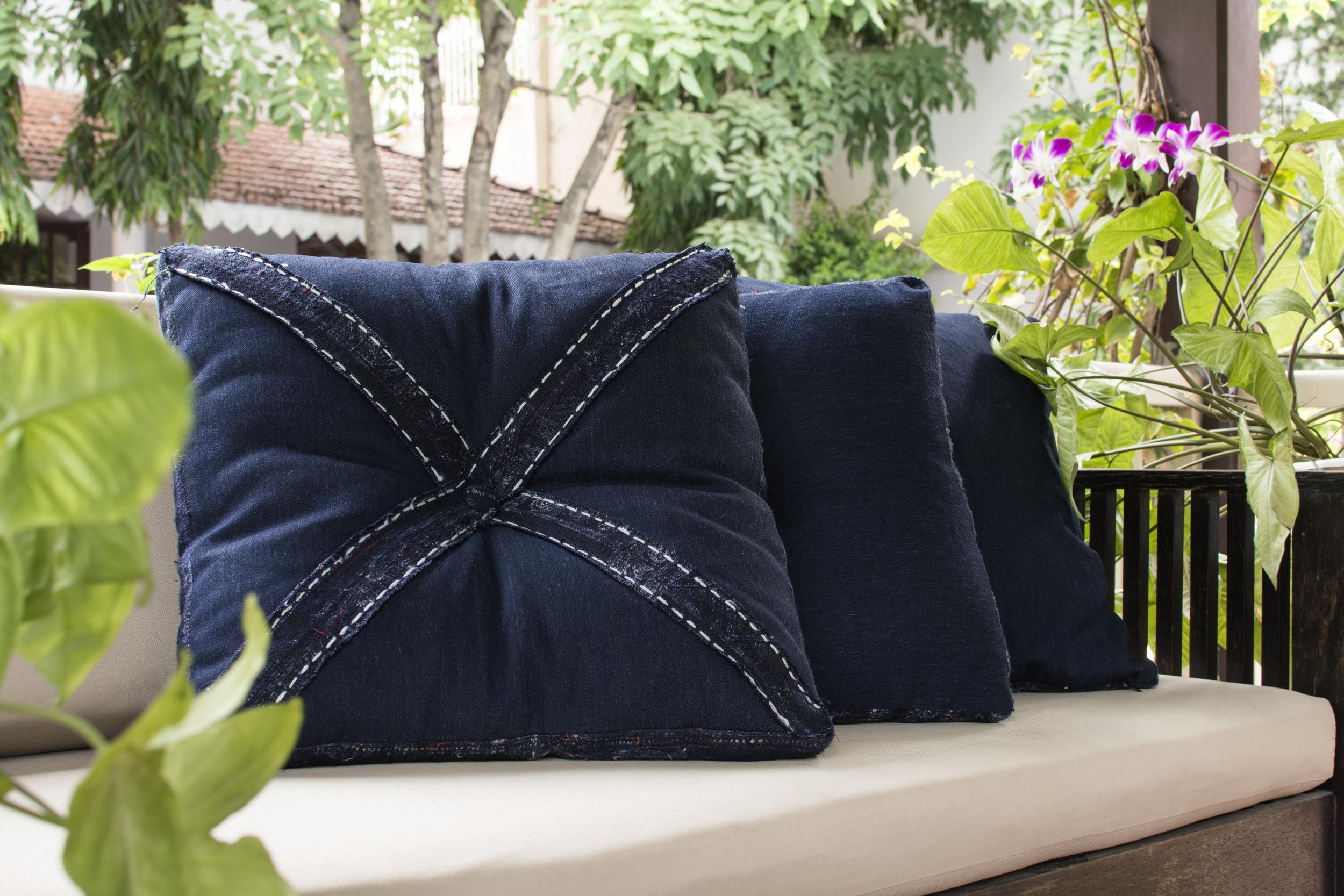 Lily Koi Vintage Indigo Sided Pillow.jpg