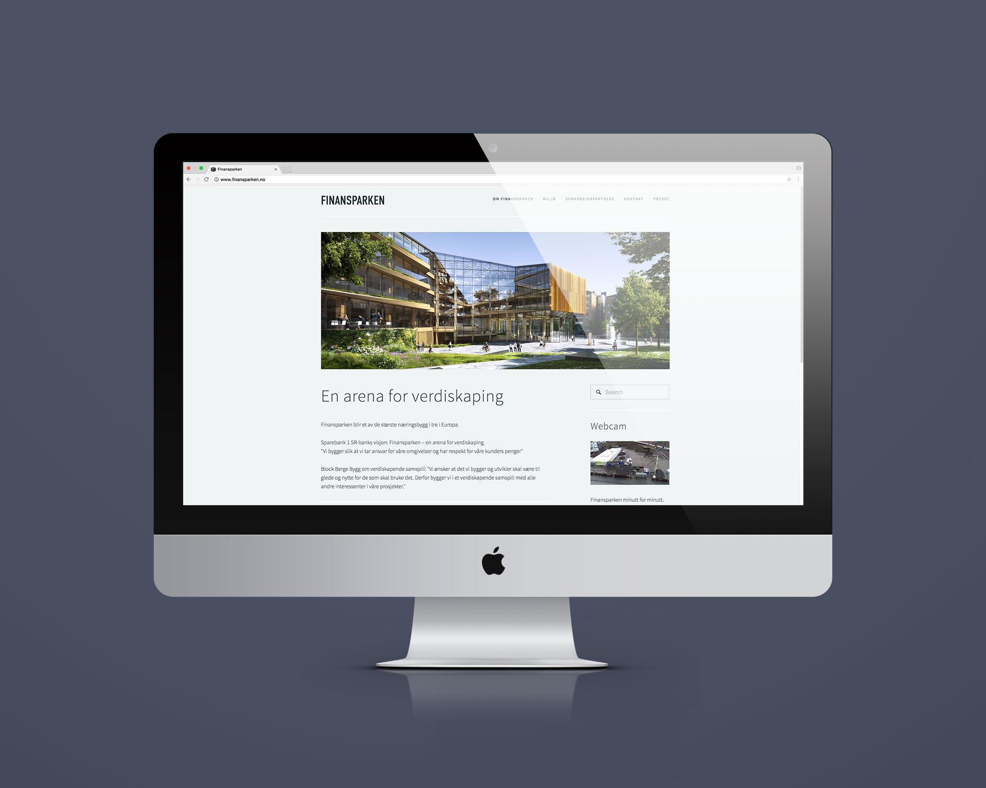Finansparkens hjemmeside