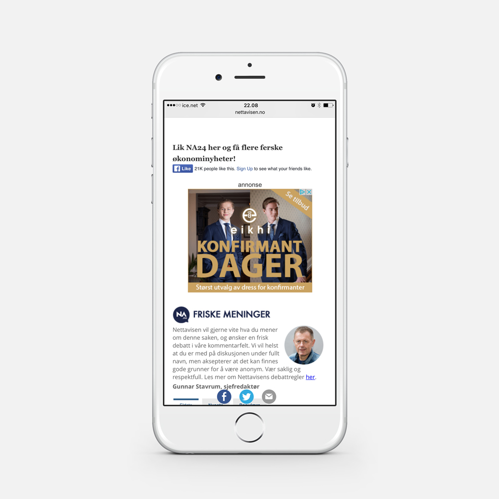 HTML5 annonse til mobil