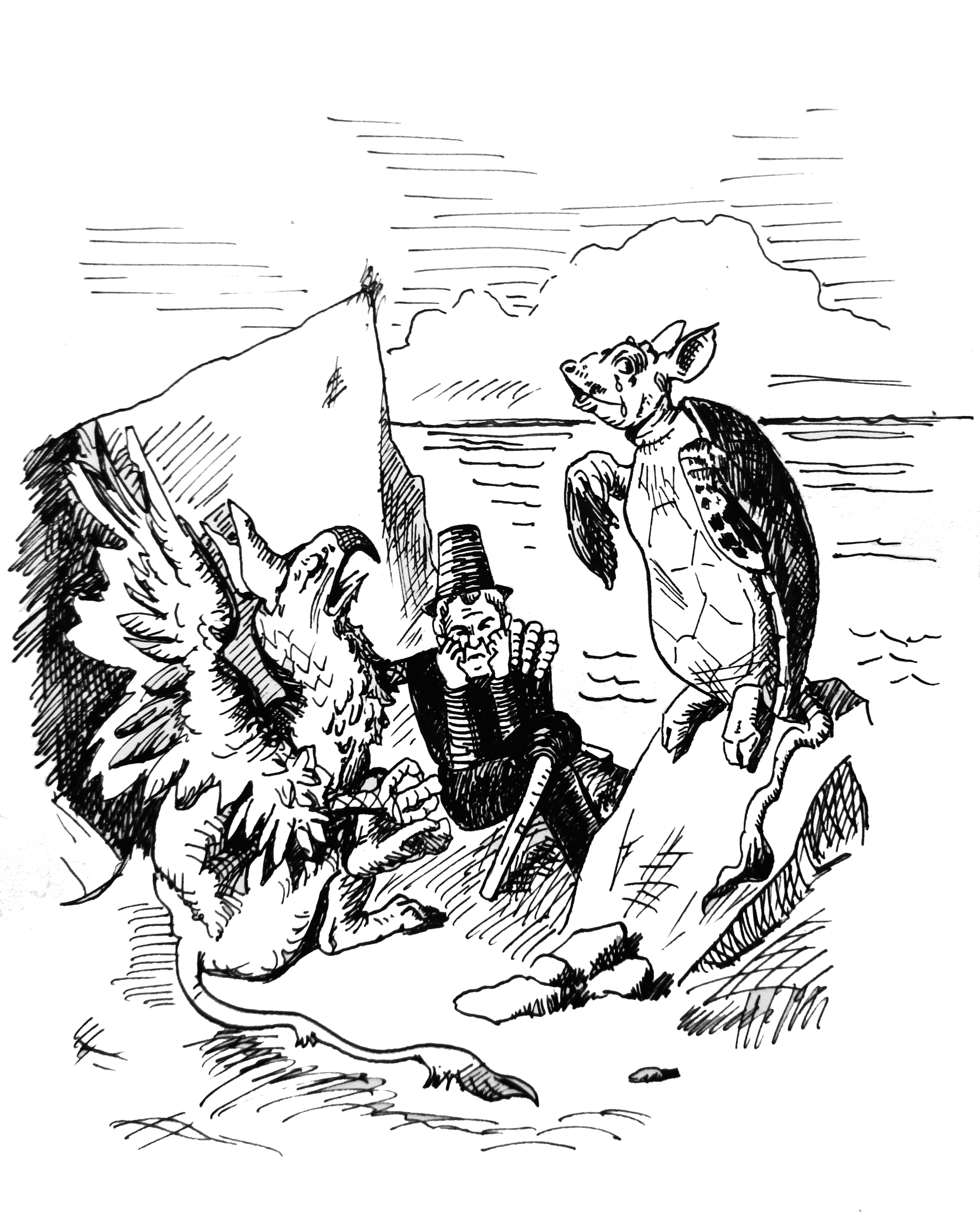 Ahab and the Gryphon