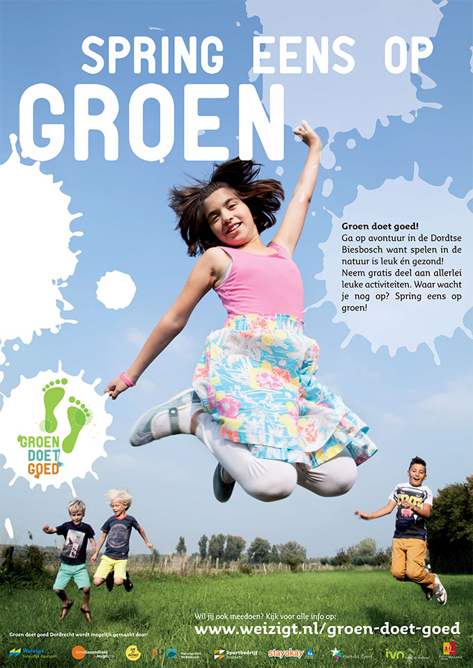 AmaiAmai: campagne Weizigt, 'spring eens op groen'