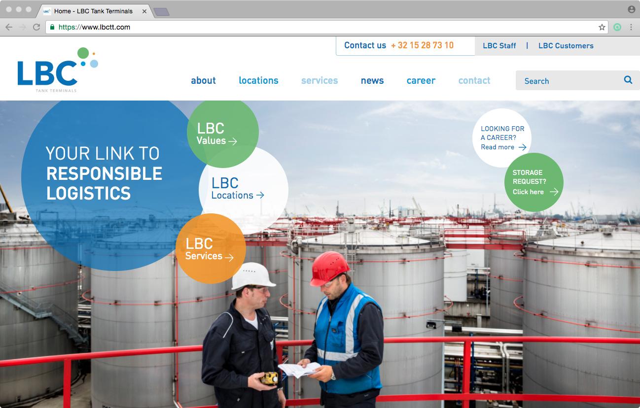 Buro Rietveld: Website LBC Tankterminals