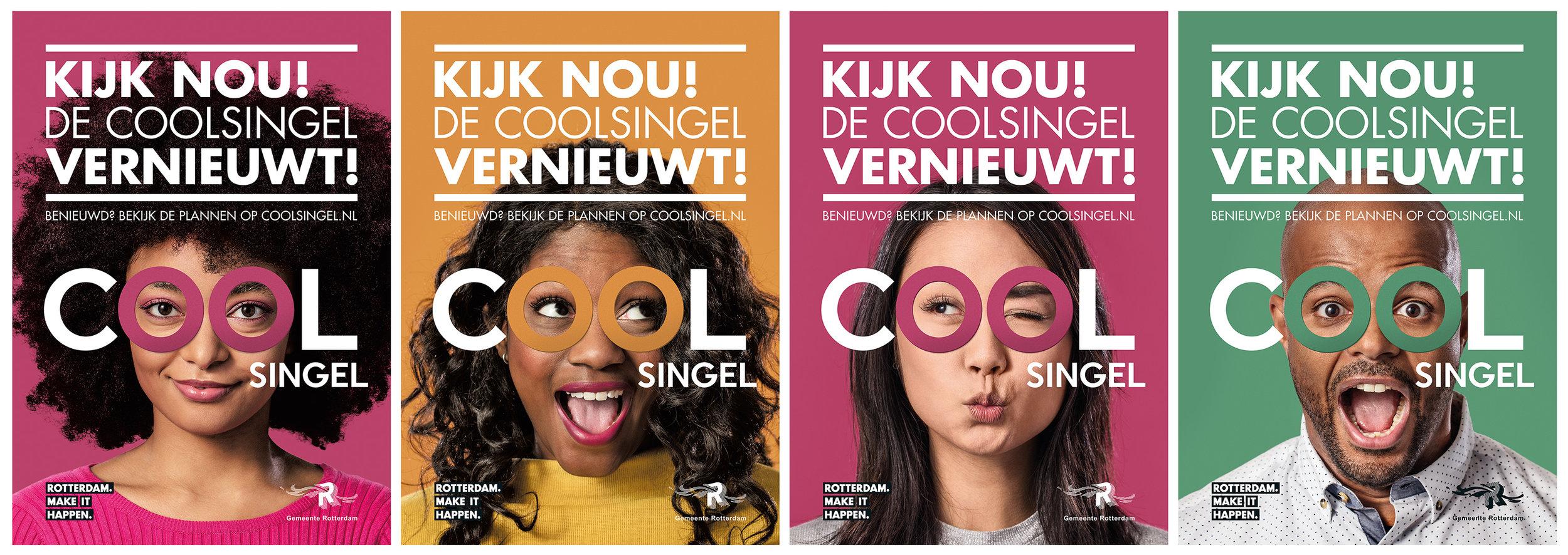 0to9: Campagne voor 'De Coolsingel vernieuwt!'.