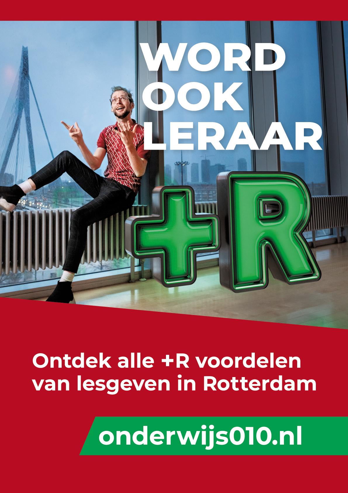 0to9: Campagne voor 'Word een Leraar+R in Rotterdam', Geert.