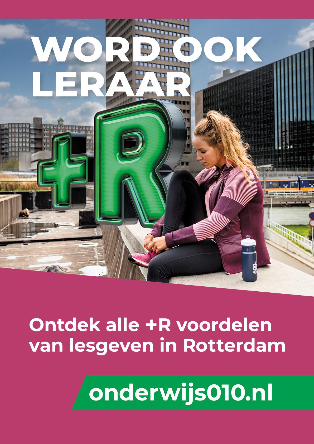 0to9: Campagne voor 'Word een Leraar+R in Rotterdam', Suus.