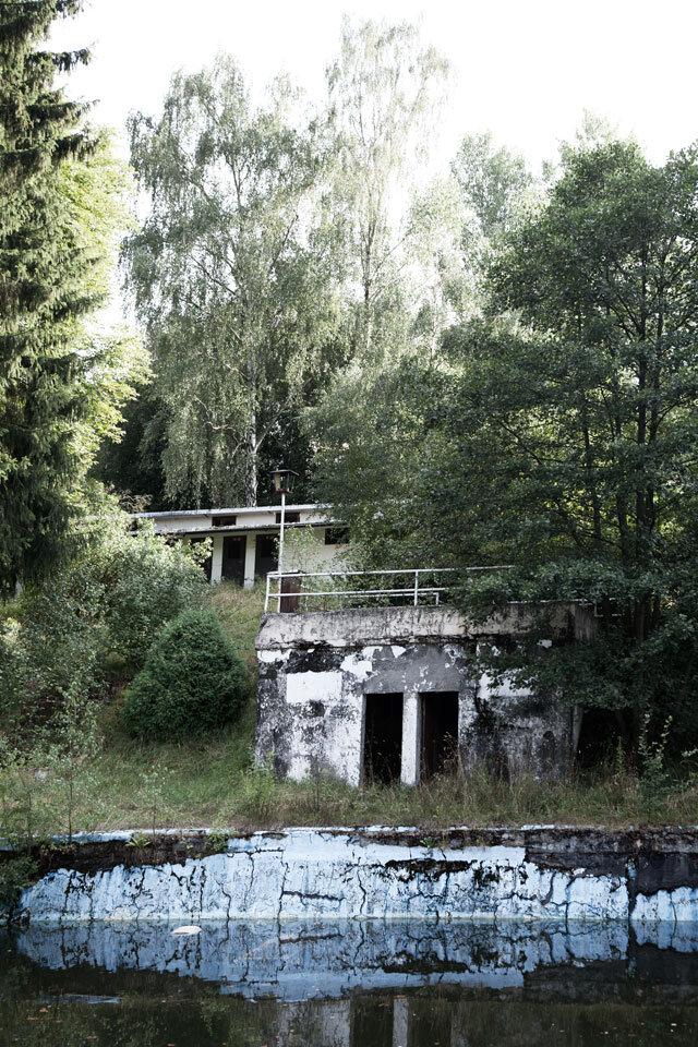 Zwembad in de voormalig DDR, gesloten in 1995