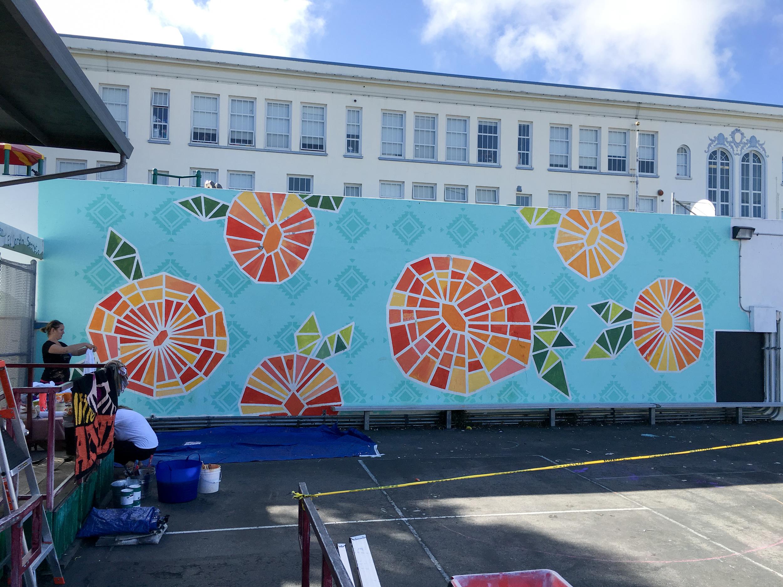 Strider Patton - Alvarado Elementary School Dia de los Muertos Mural