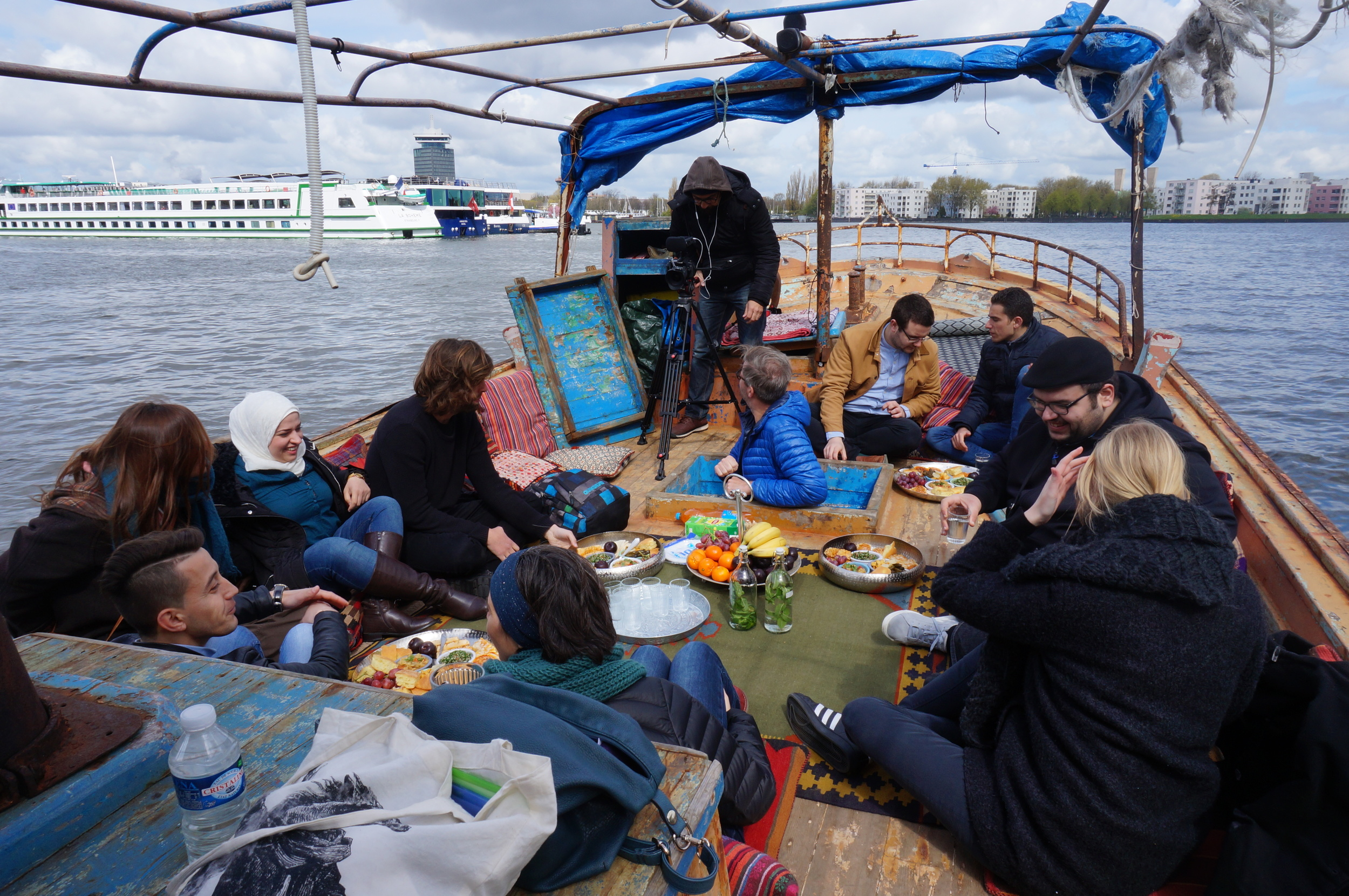 On board of Mr. Friday sailing on Amsterdam waters //April 30, 2016