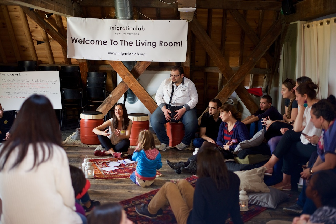 We transformed Humanity House,museum and educational platform, to a public living room.