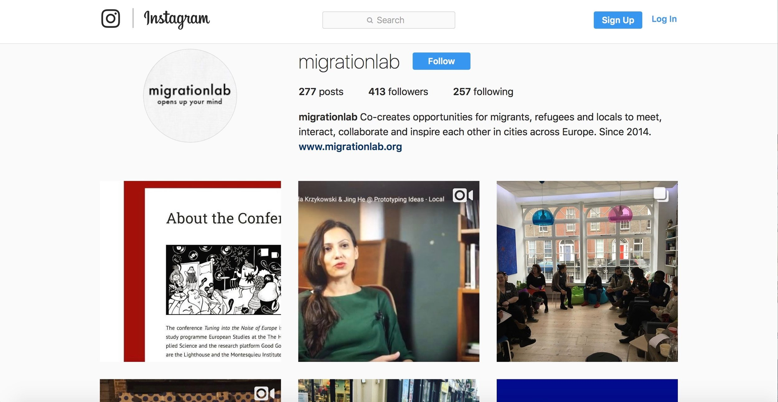 In charge of the Instagram account of the Migrationlab Foundation.