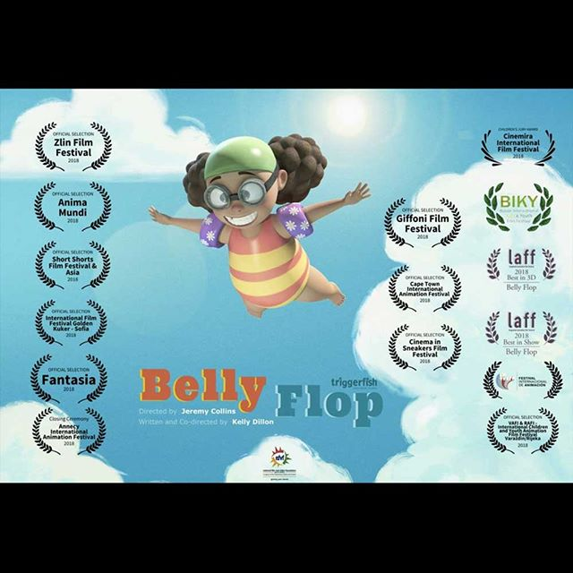 Yeay Bellyflop has made it into 14 festivals! 🥂🍾 . . . . #lorrainealvarezposen #triggerfishanimation #Bellyflop #filmfestival #animatedshort #kellydillon #animation