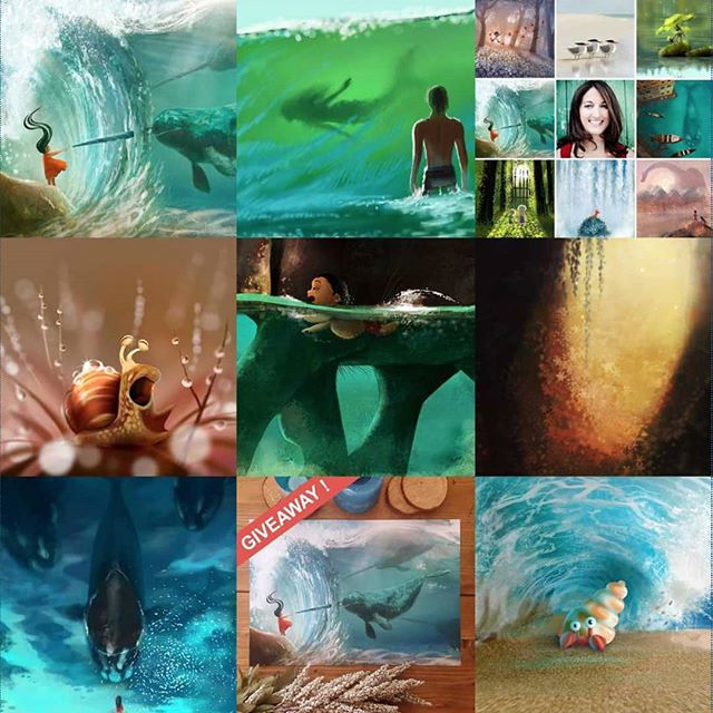 My best nine picz of 2018. Definitely a water theme going on here. #2018bestnine . . . . #lorrainealvarezposen #instaart #2018art #illustration #visdev