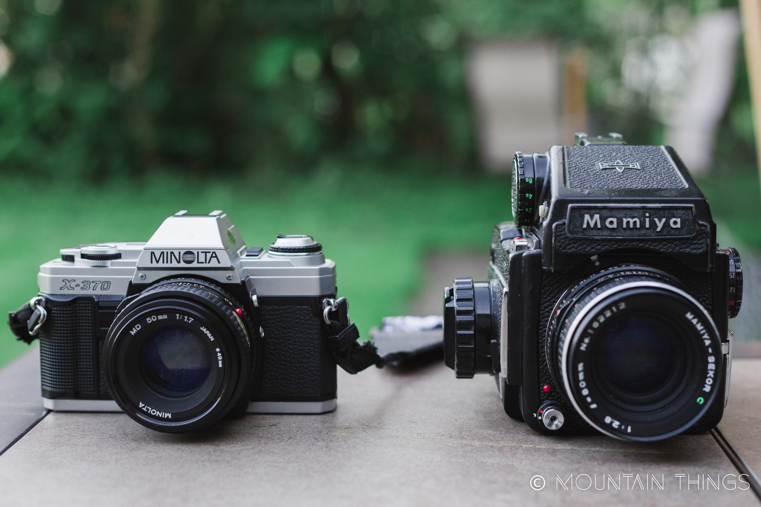 Minolta x-370 and mamiya m645 medium format comparison