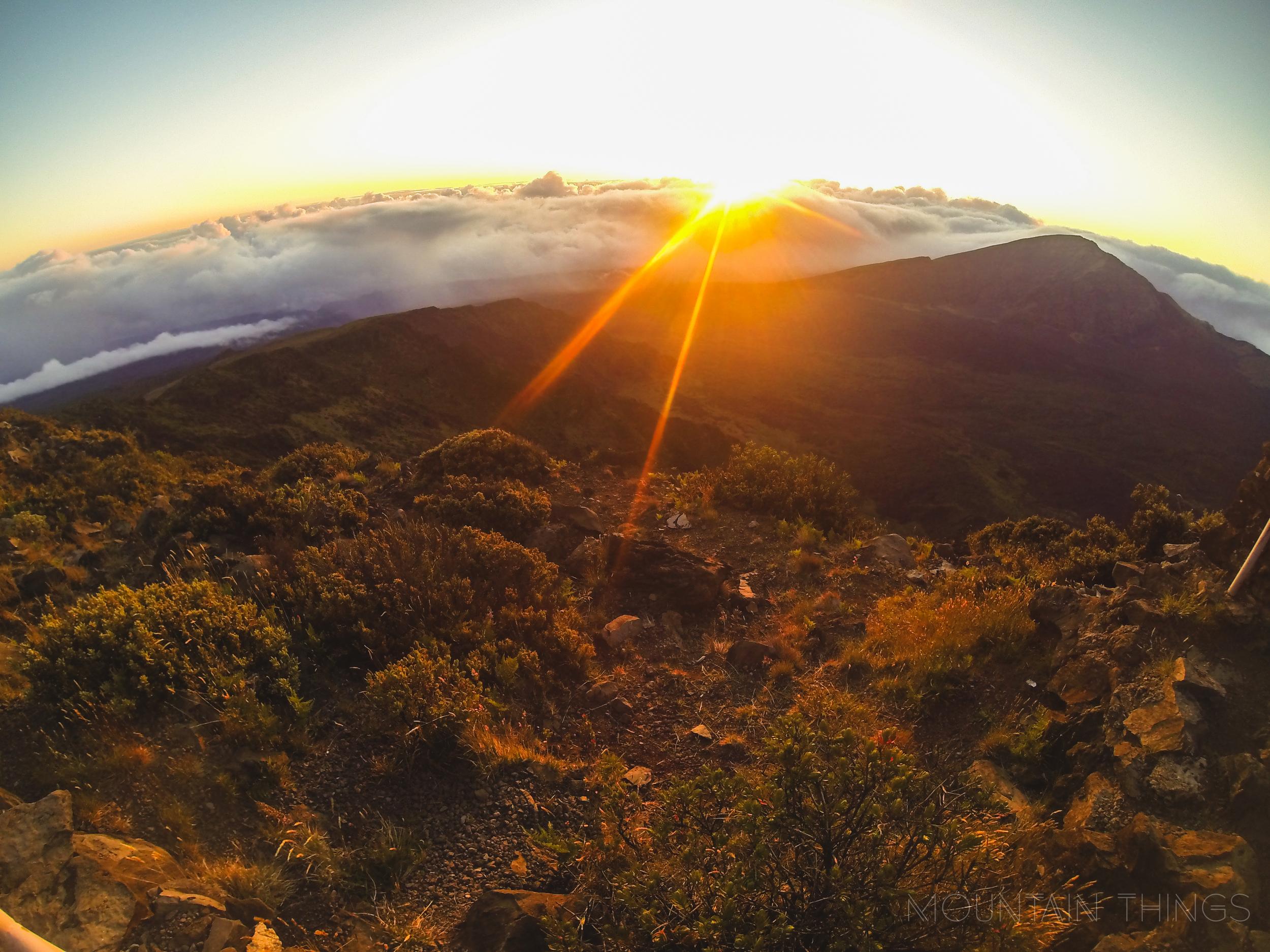 Haleakala has an unreal, mars-like terrain.