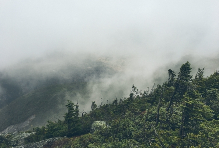 A Similar view during the foggy hike of 2017.