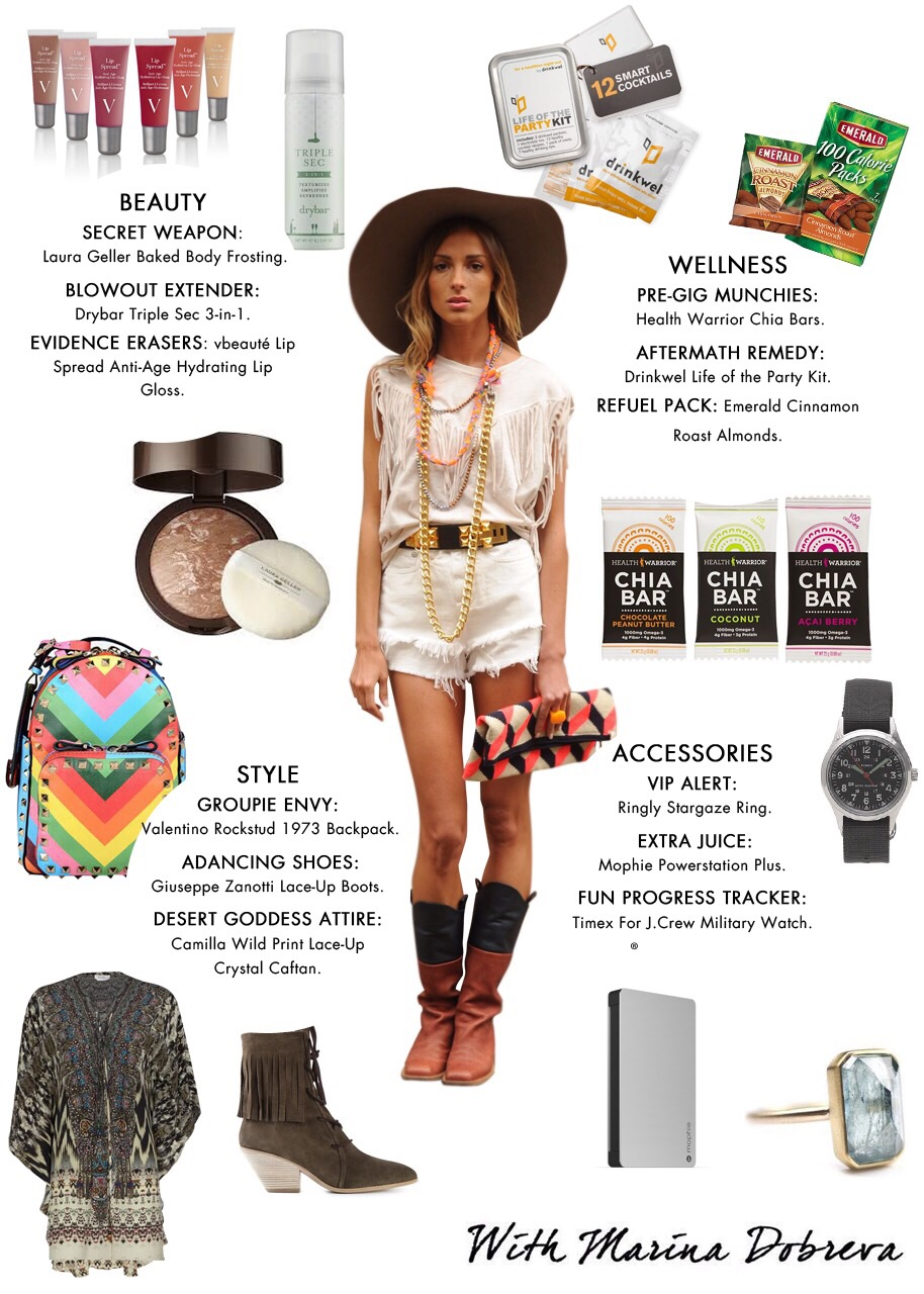 What to wear and bring to Coachella Marina Dobreva