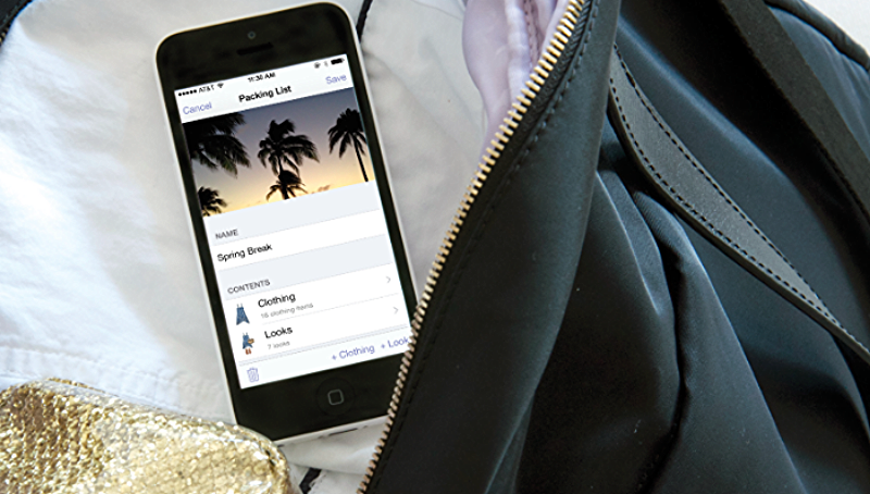 stylebook app travel style for packing list