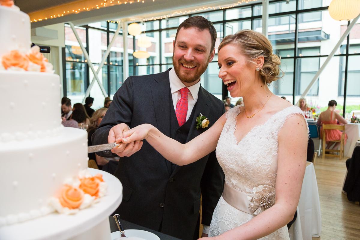 Monica-Jeff-Wedding-Cake-Cutting-At-Greenhouse-Loft