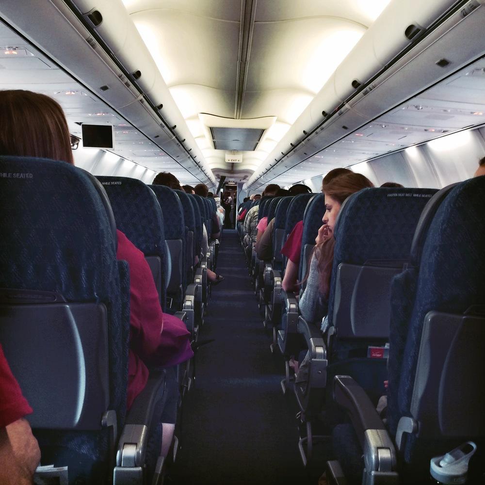 Team members preparing for take off