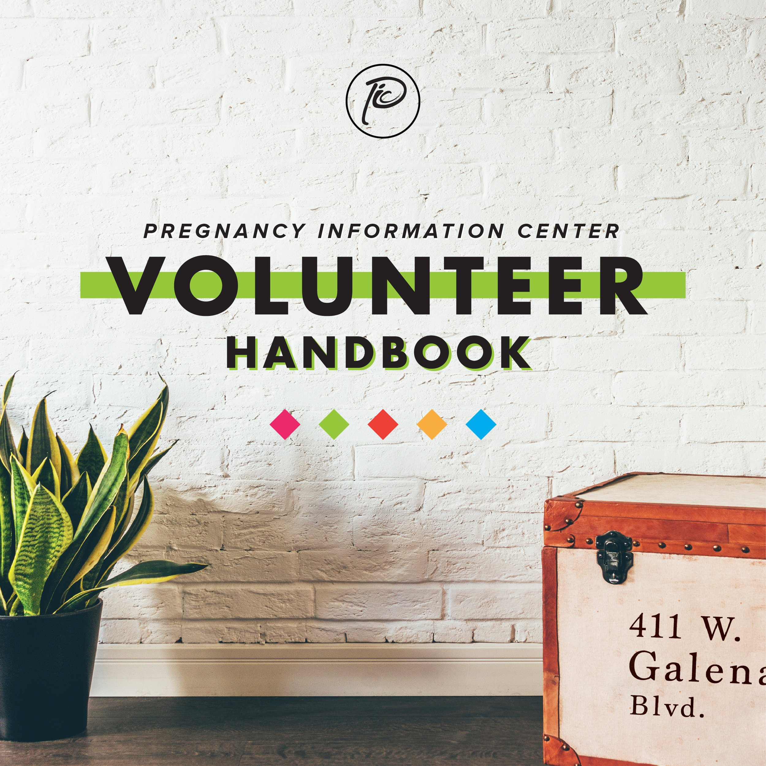 Cover of a volunteer training booklet