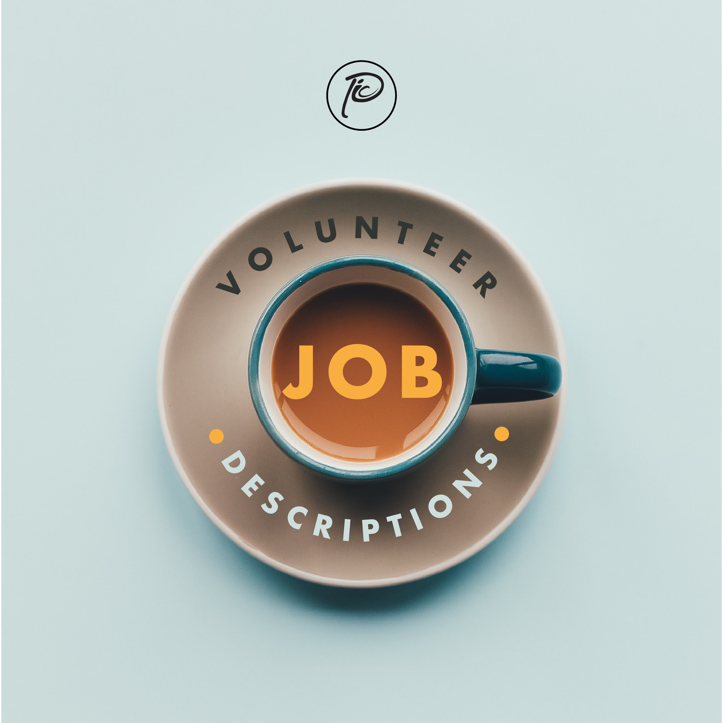 Cover art for a volunteer descriptions booklet