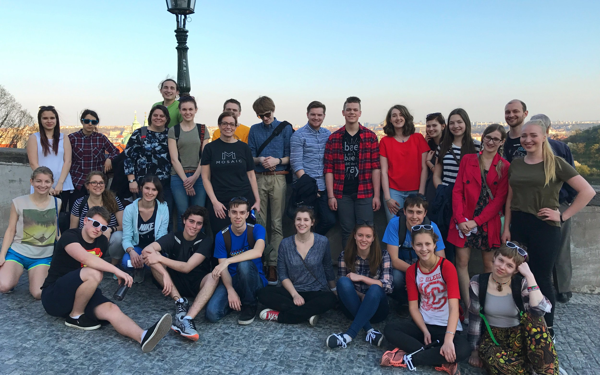 Our team and Czech friends together in Prague