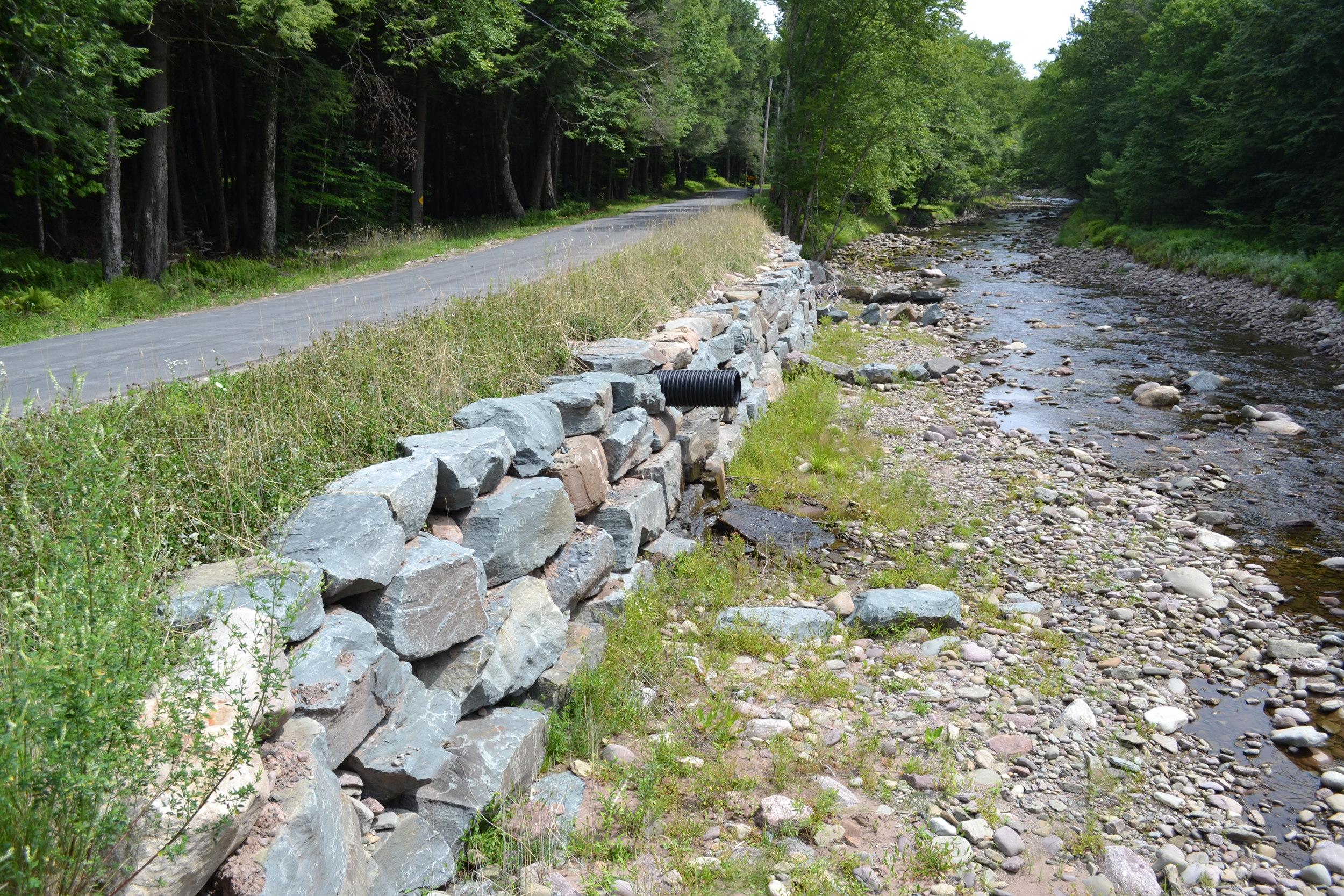 Streambank Stabilization Denning Road and New Road Hill Bridge E.Branch Neversink (SMIP/CSBI)