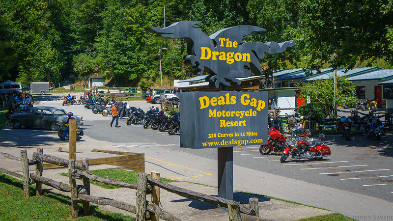 Deals Gap Motorcycle Resort south of Knoxville, Tennessee