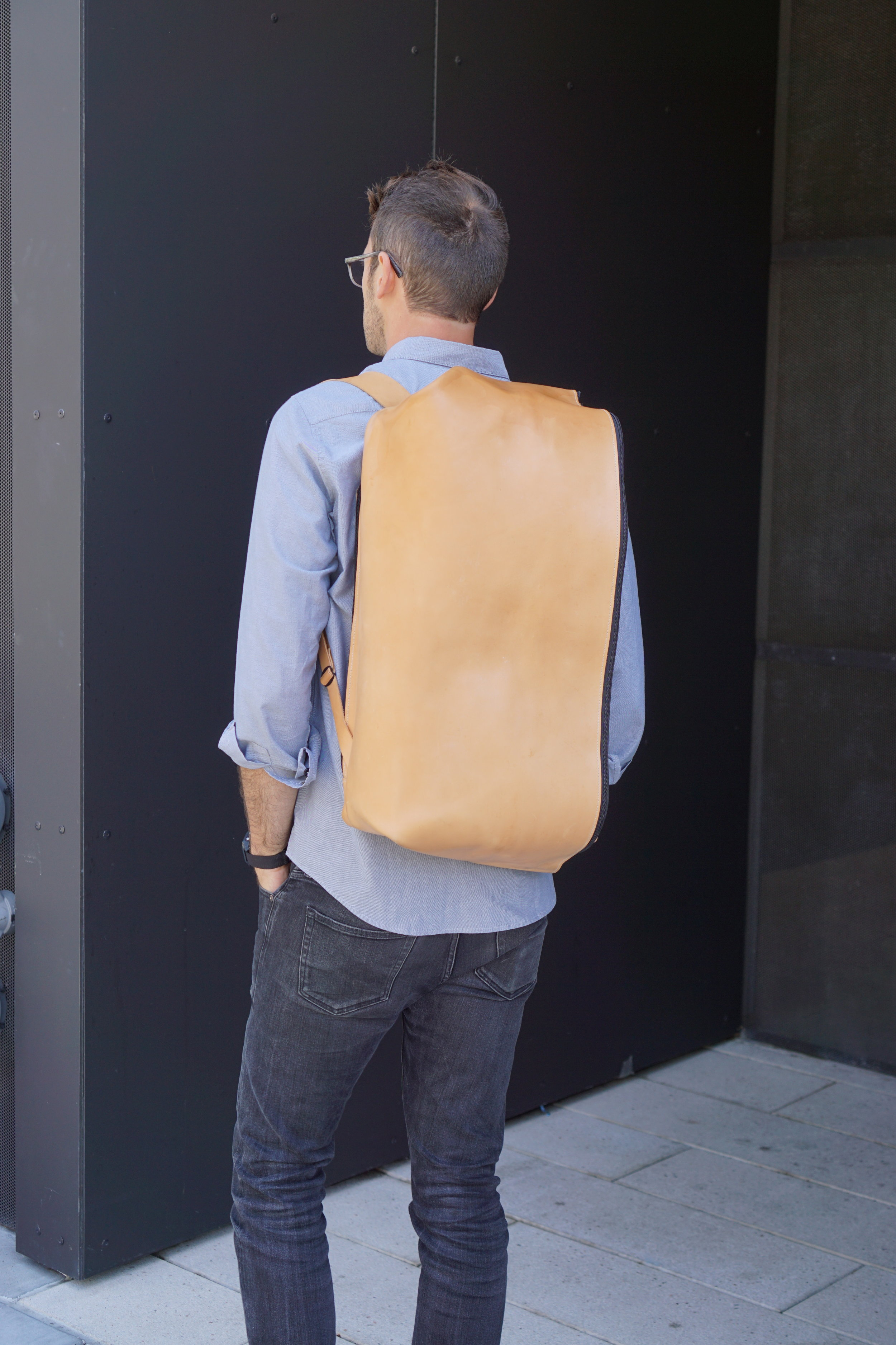 Leather backpack by Levi Jacob Price