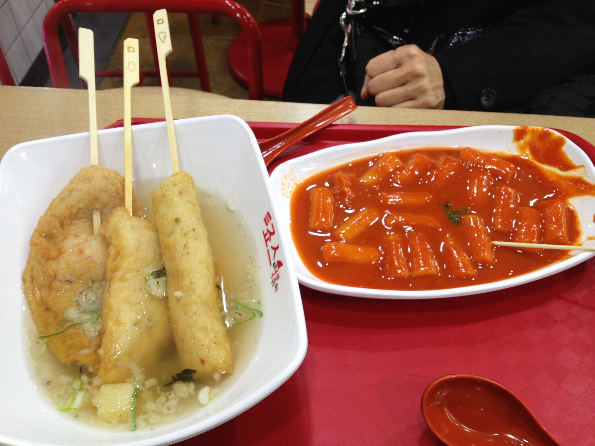 Bunsik from my last visit to Seoul. Odeng on the left and ddukbokki on the left. All day y'all!