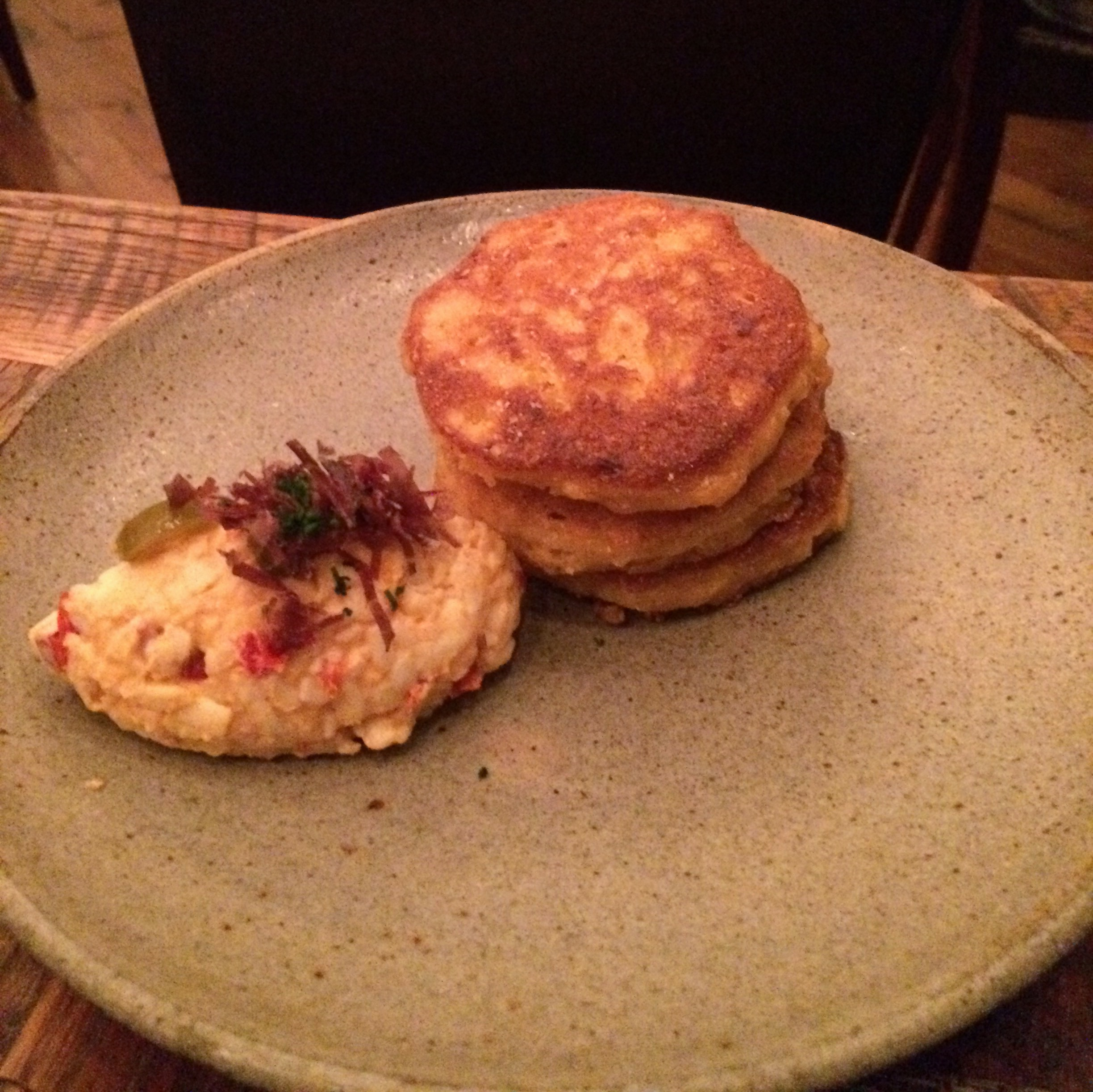 Pimento cheese & johnny cakes