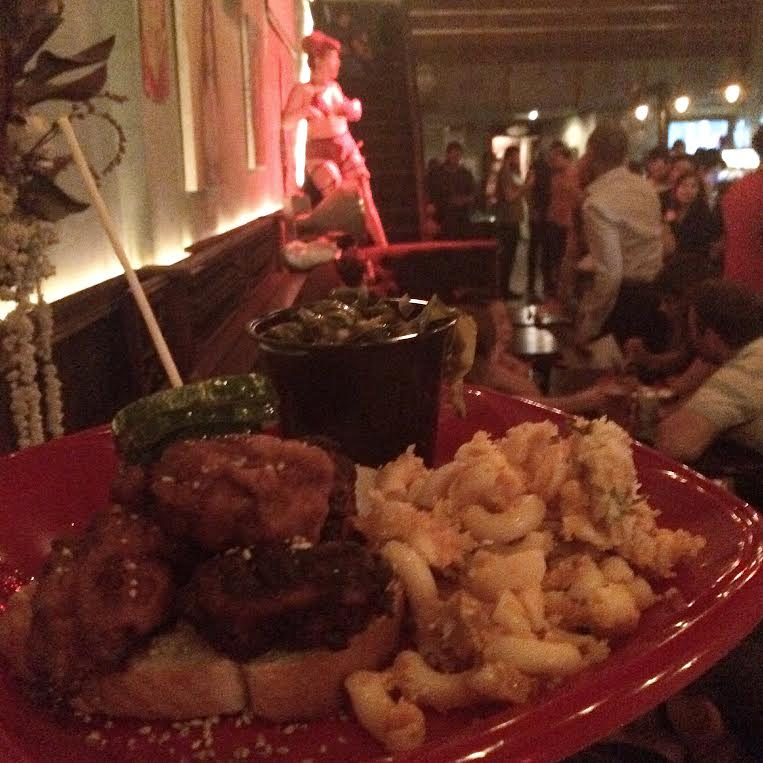 Yooeating?! Hot Chicken Hot Plate – with Varla Velour go-go dancing in the back!