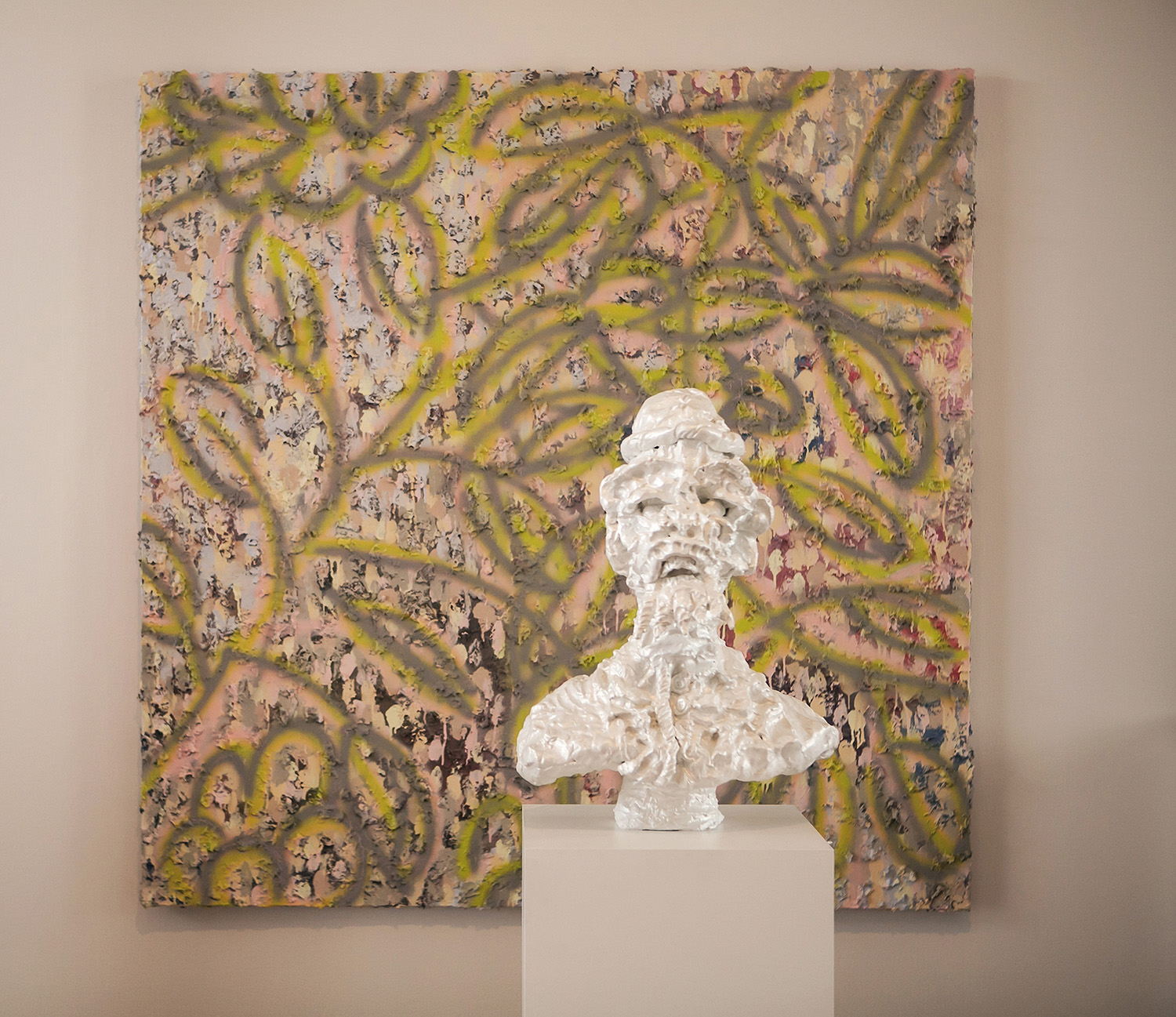 "Soldier in Palace Garden , 2015; iridescent acrylic on fired ceramic with paper mache and paint on canvas; 88""H x 60""W x 38""D  Photo credit Amanda Tipton         0   0   1   22   131   RMCAD   1   1   152   14.0                      Normal   0           false   false   false     EN-US   JA   X-NONE                                                                                                                                                                                                                                                                                                                                                                              /* Style Definitions */ table.MsoNormalTable 	{mso-style-name:""Table Normal""; 	mso-tstyle-rowband-size:0; 	mso-tstyle-colband-size:0; 	mso-style-noshow:yes; 	mso-style-priority:99; 	mso-style-parent:""""; 	mso-padding-alt:0in 5.4pt 0in 5.4pt; 	mso-para-margin:0in; 	mso-para-margin-bottom:.0001pt; 	mso-pagination:widow-orphan; 	font-size:10.0pt; 	font-family:""Times New Roman""; 	mso-fareast-language:JA;}"