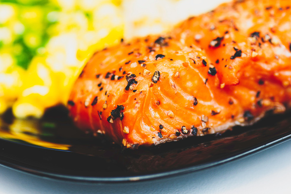 Image of a cooked glazed salmon rich in protein to help with your metabolic health