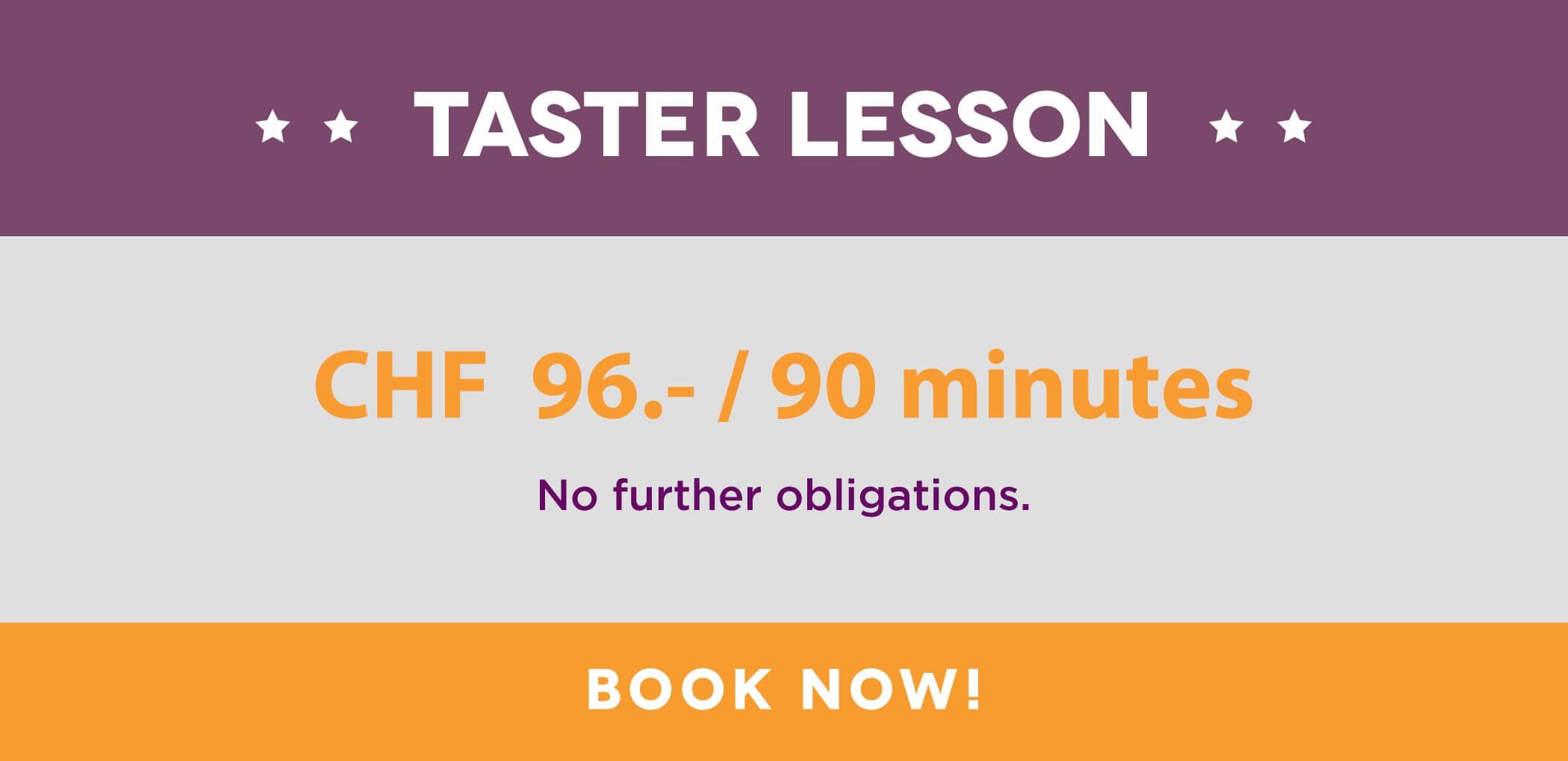 Taster Lesson English
