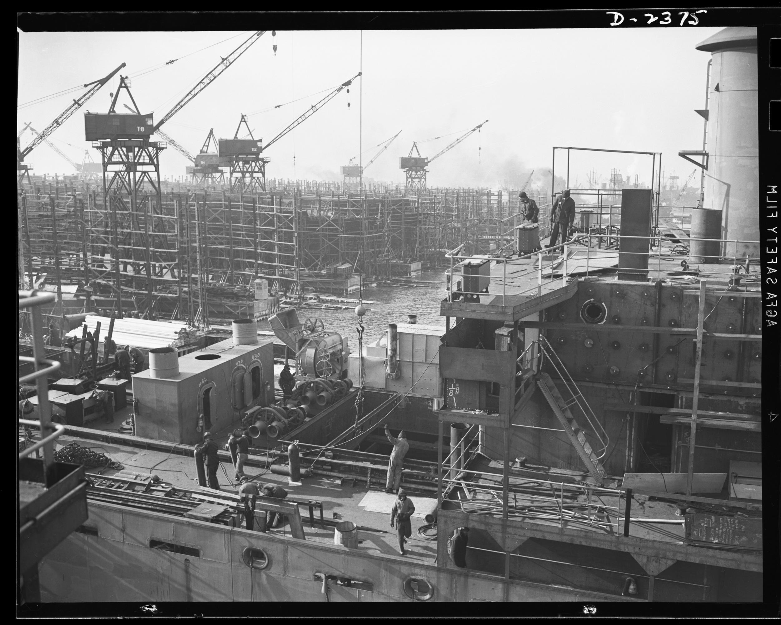 Liberty ships at Bethlehem-Fairfield Shipyard