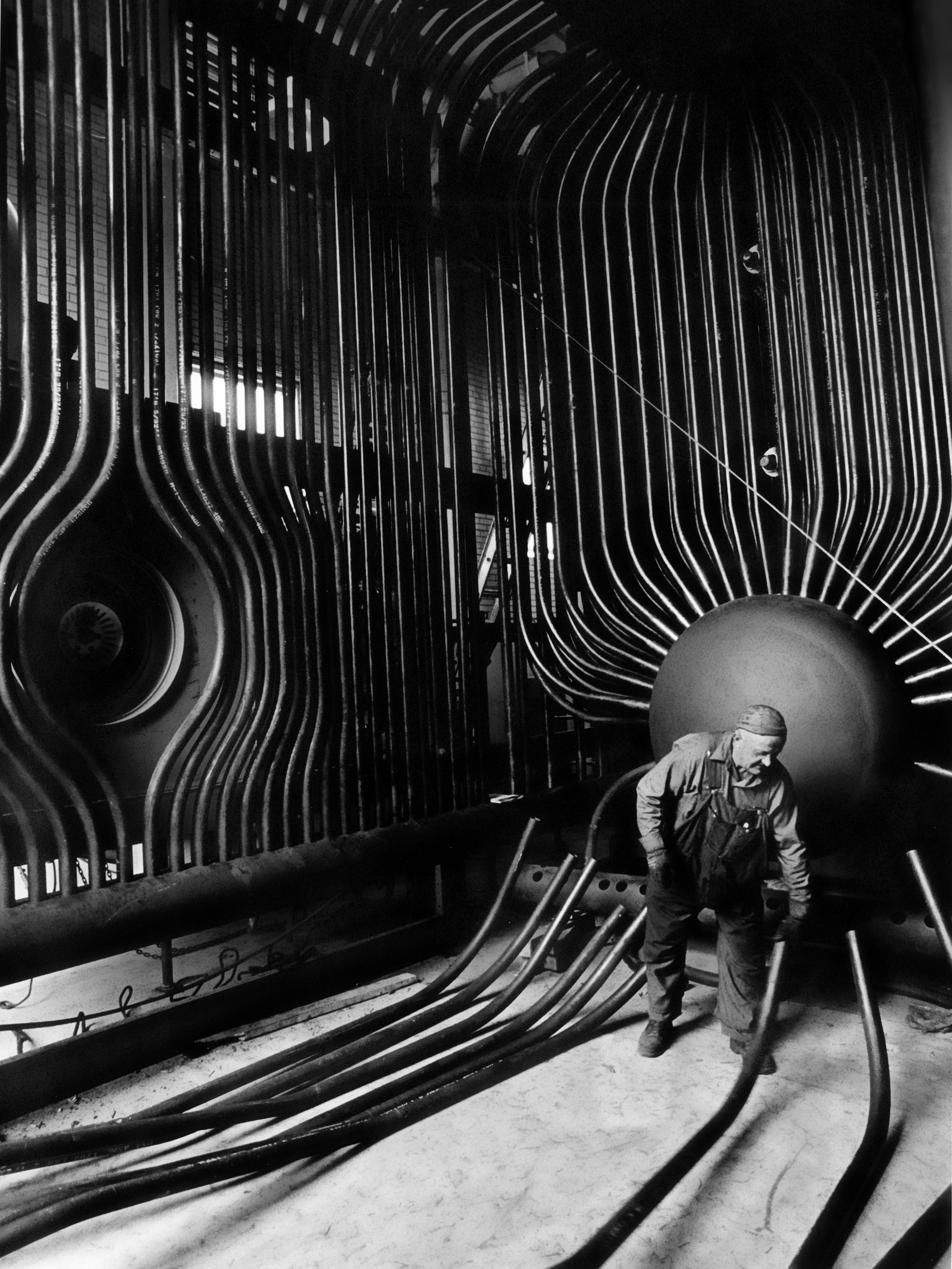Boilermaker Inspecting Boiler Tubes