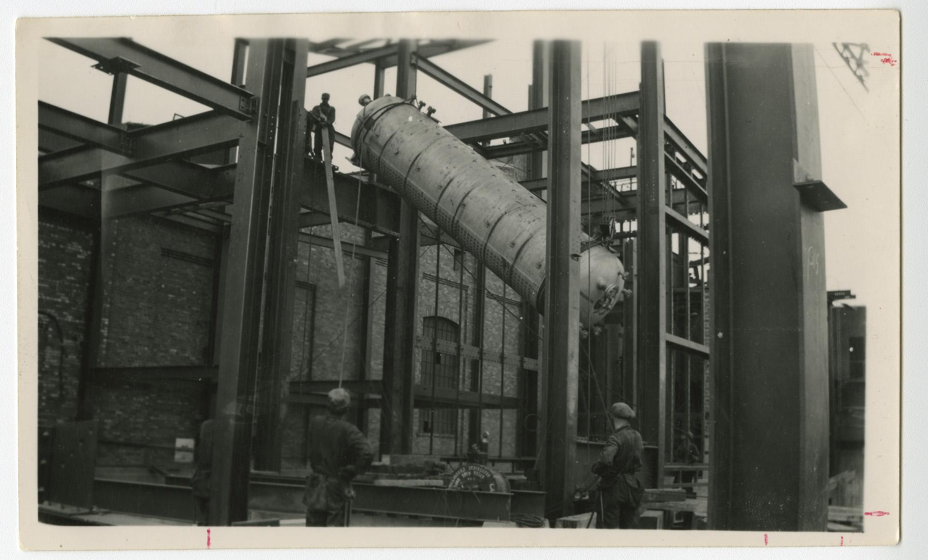 Installing a Steam Drum at Ocean Falls Generating Station, Ocean