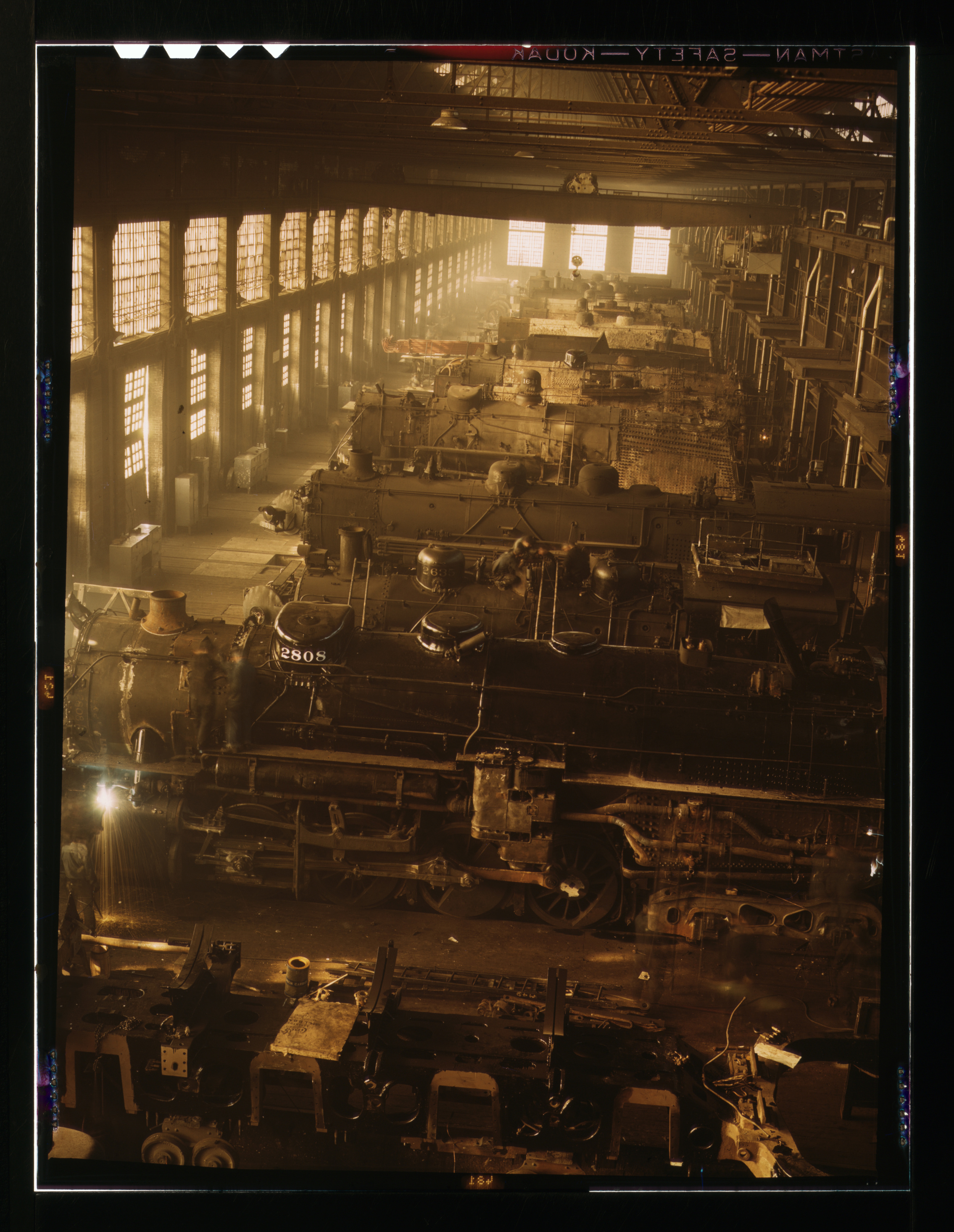 Chicago and Northwestern locomotive repair shop