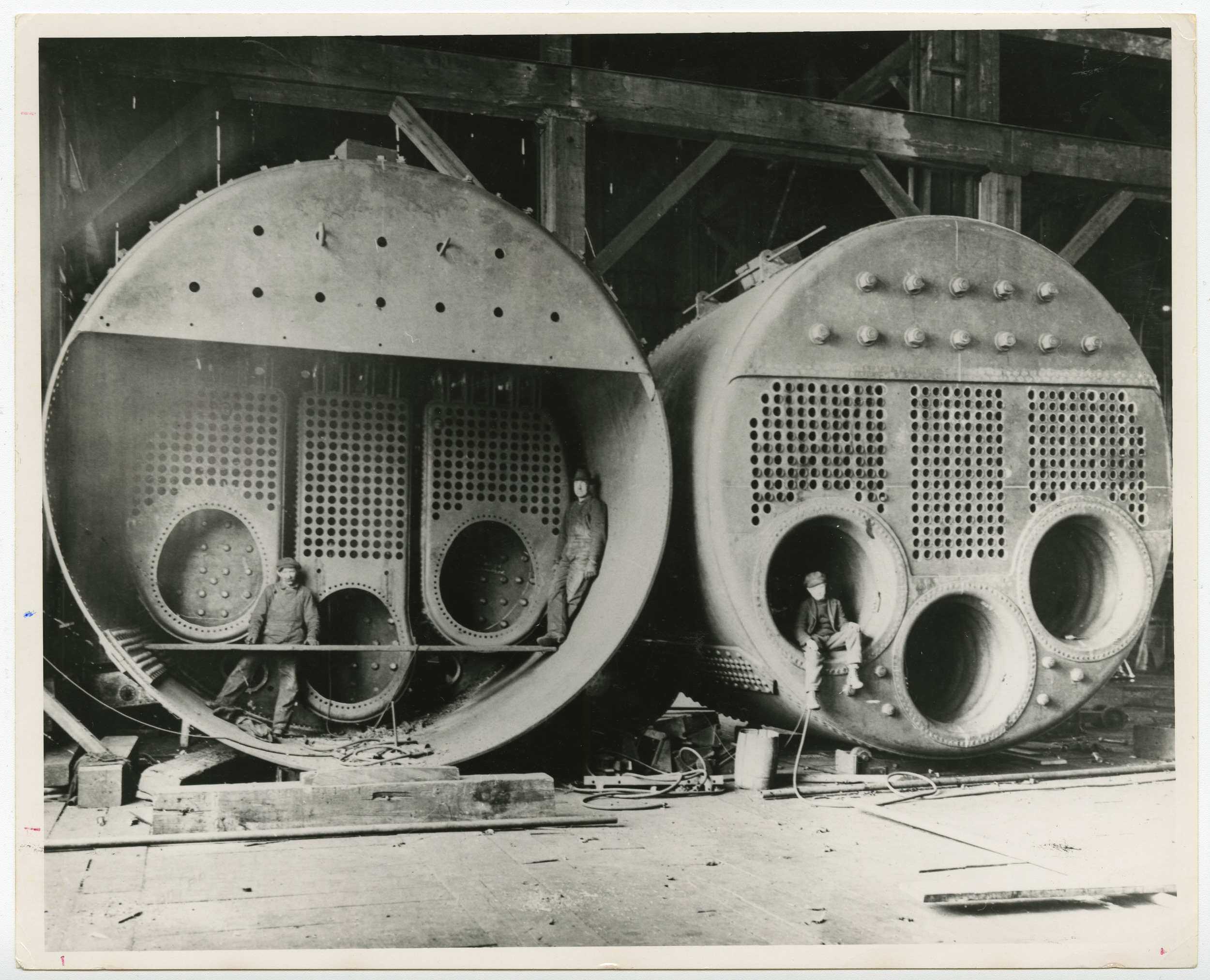 "Fabricating ""Scotch"" Marine Boilers, Vancouver, British Columbia"