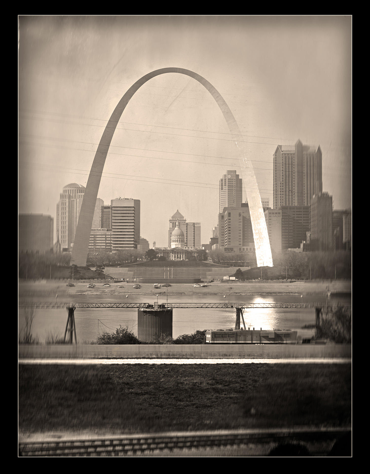 East St. Louis View of Gateway Arch