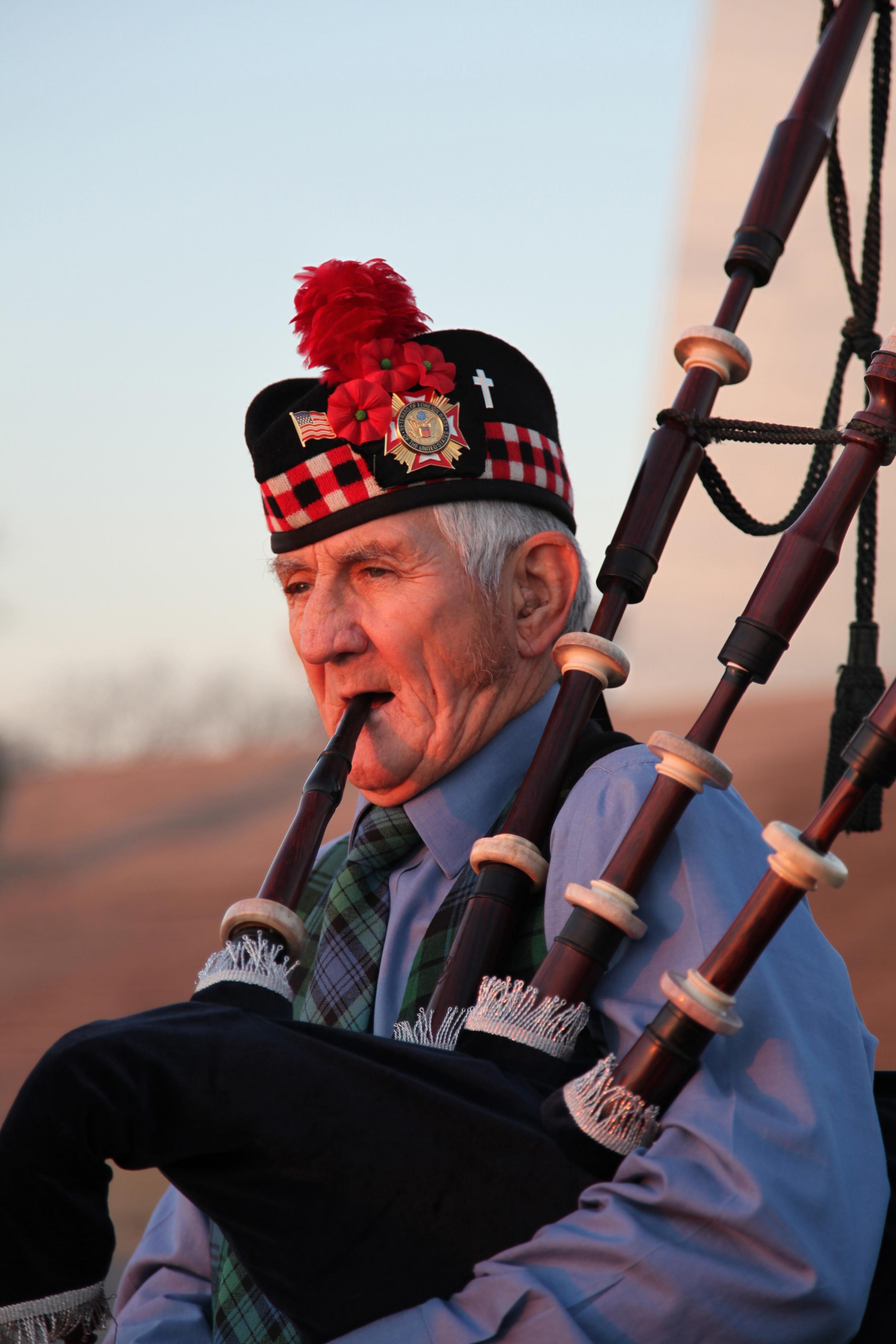 Retired Boilermaker Ike Erdman on the Bagpipes
