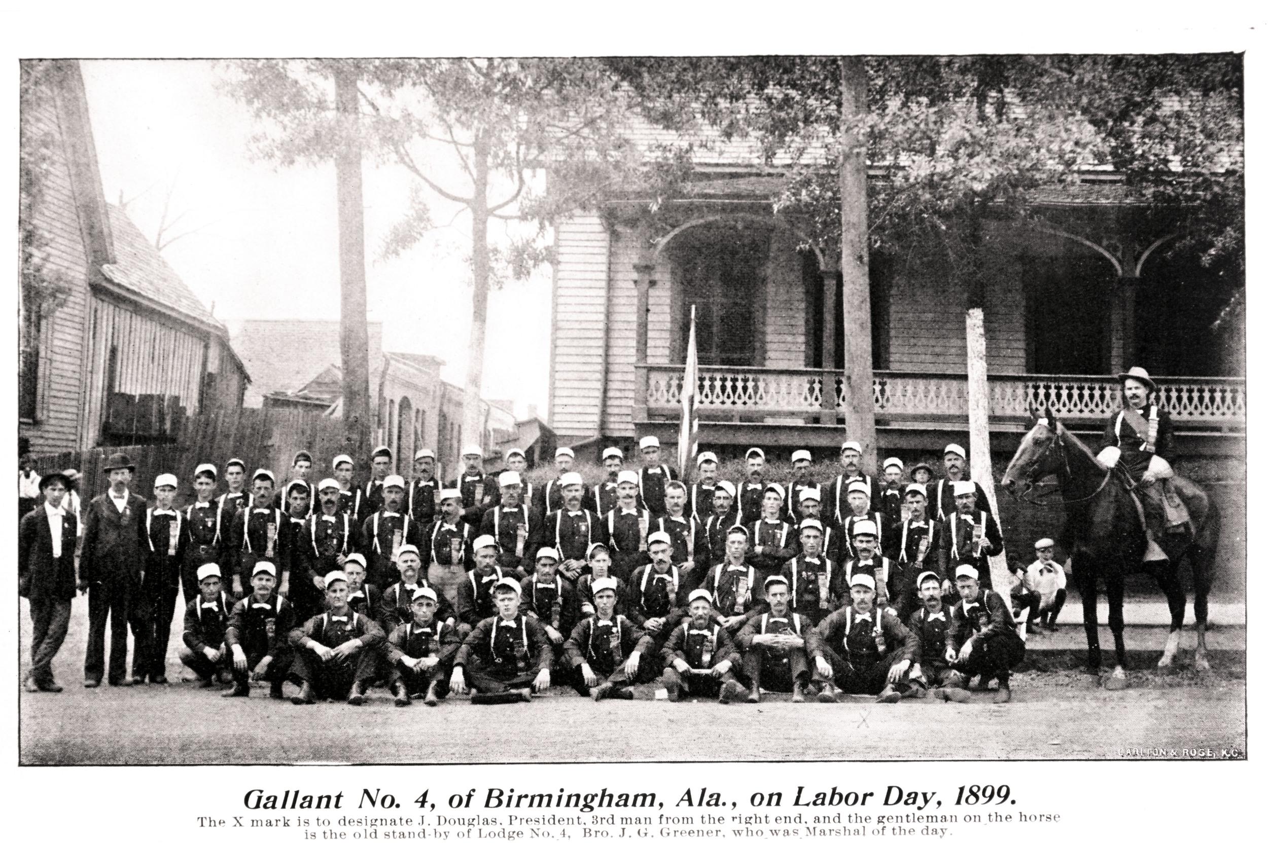 Boilermakers Lodge 4 (Birmingham, Ala.) on Labor Day, 1899