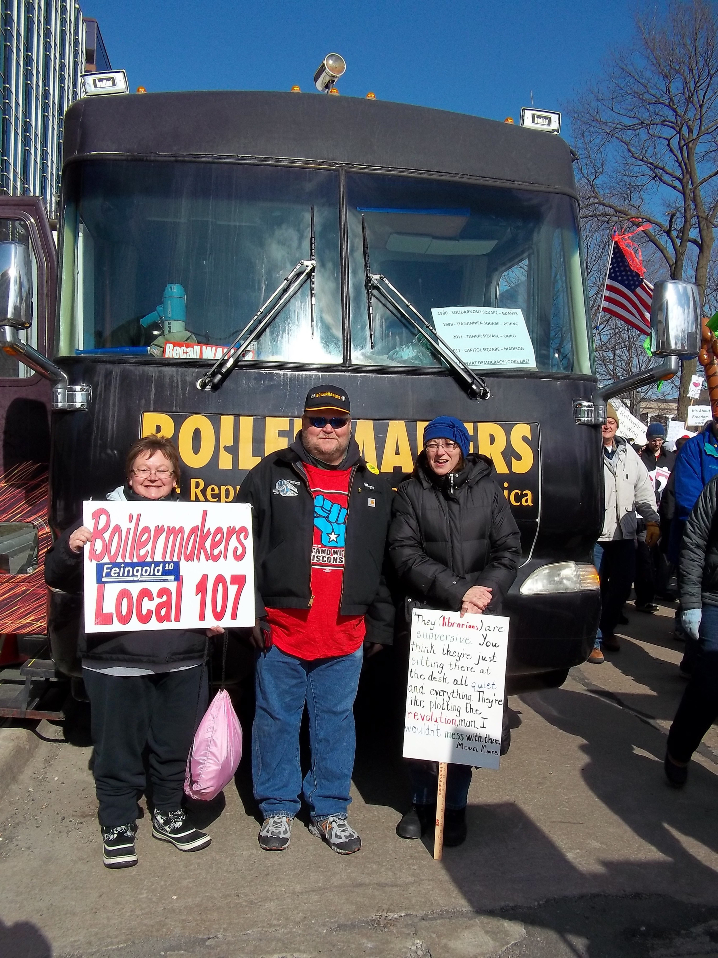 Wisconsin Protests Governor Scott Walker's Proposed Bill, 2011