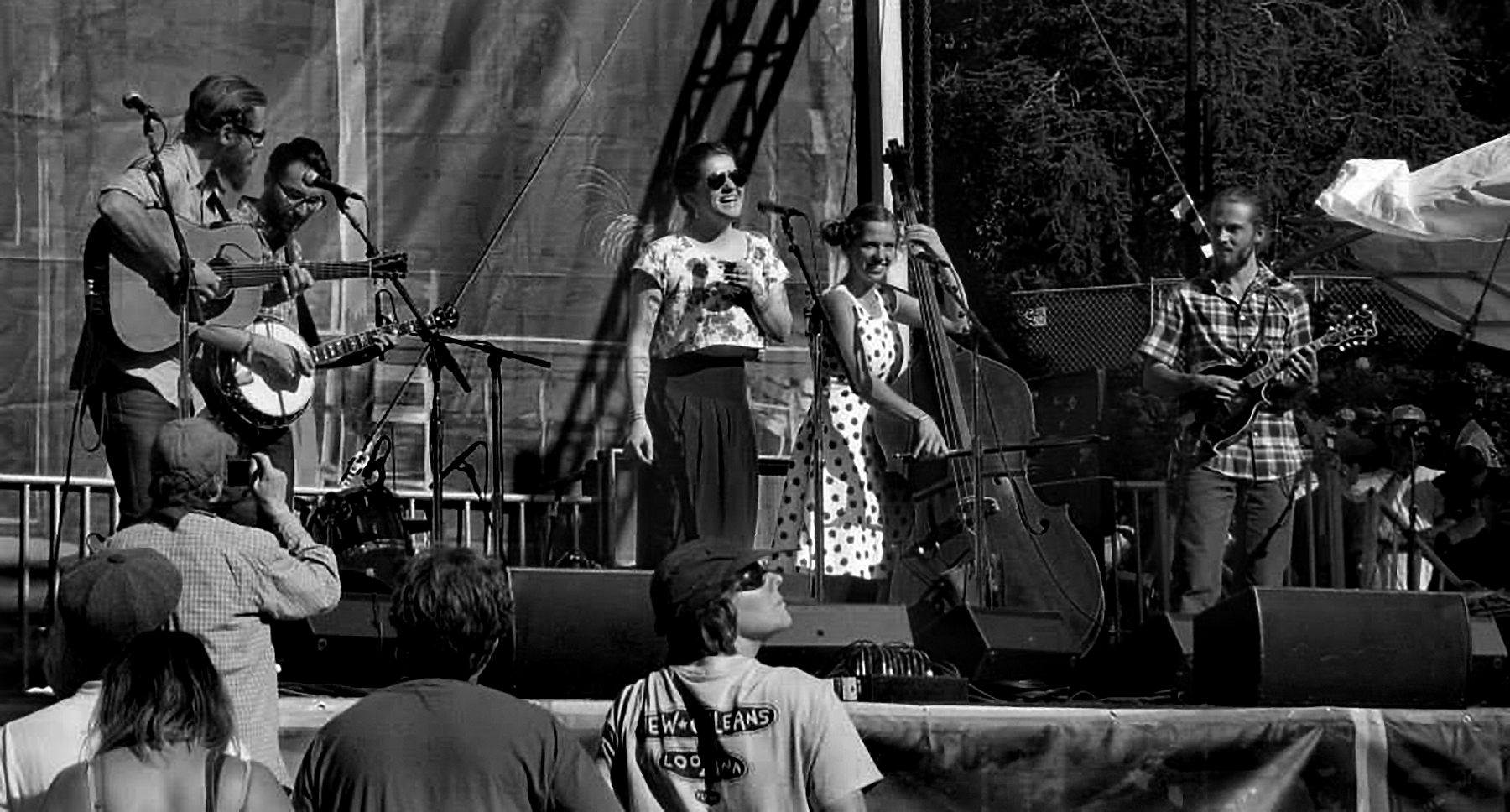 joy kills sorrow playing at the hardly strictly bluegrass festival in san francisco, photo by john beaton.
