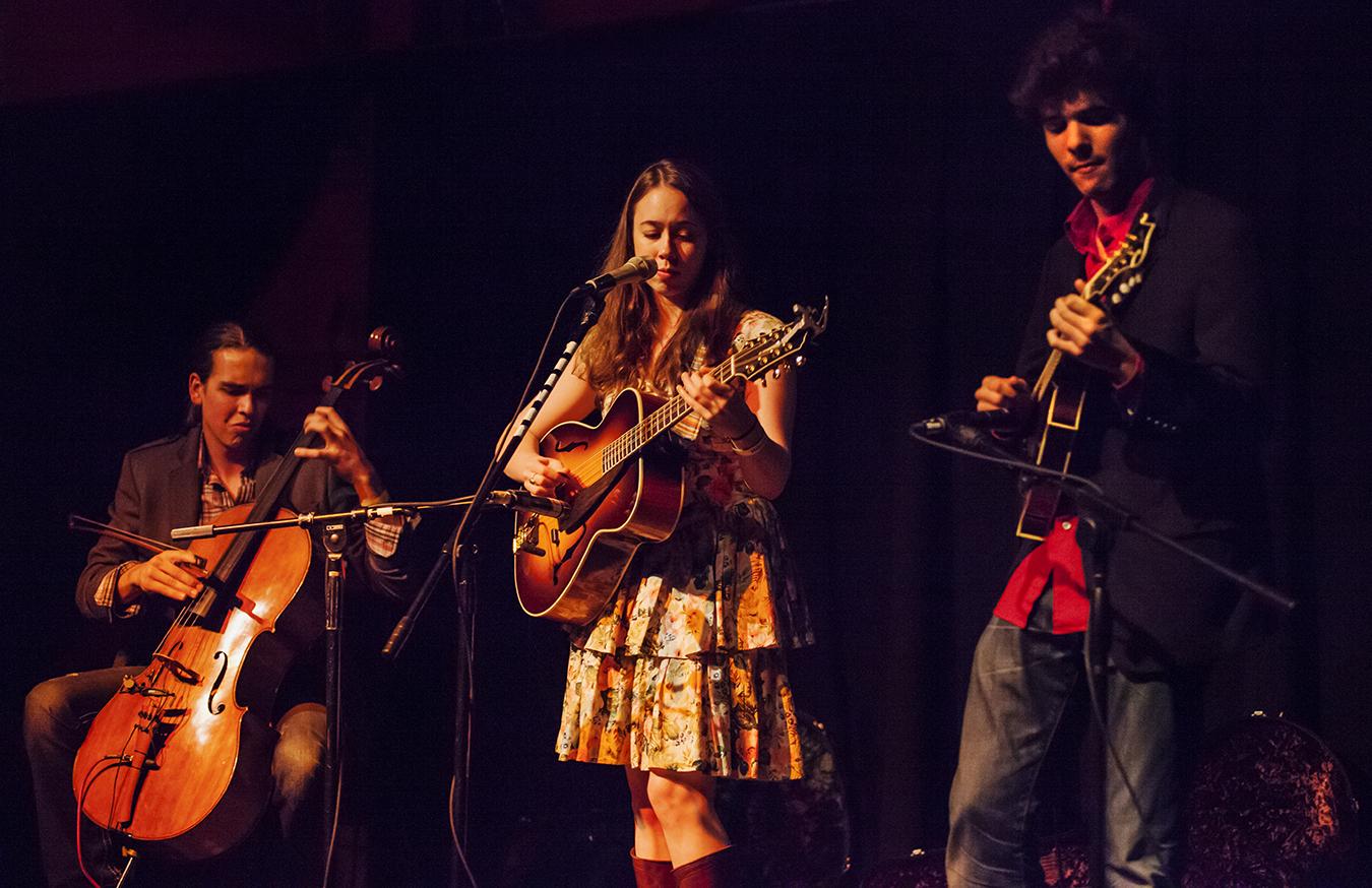 Nathaniel smith, sarah jarosz, and alex hargreaves, 2011. photo by hermon joyner.
