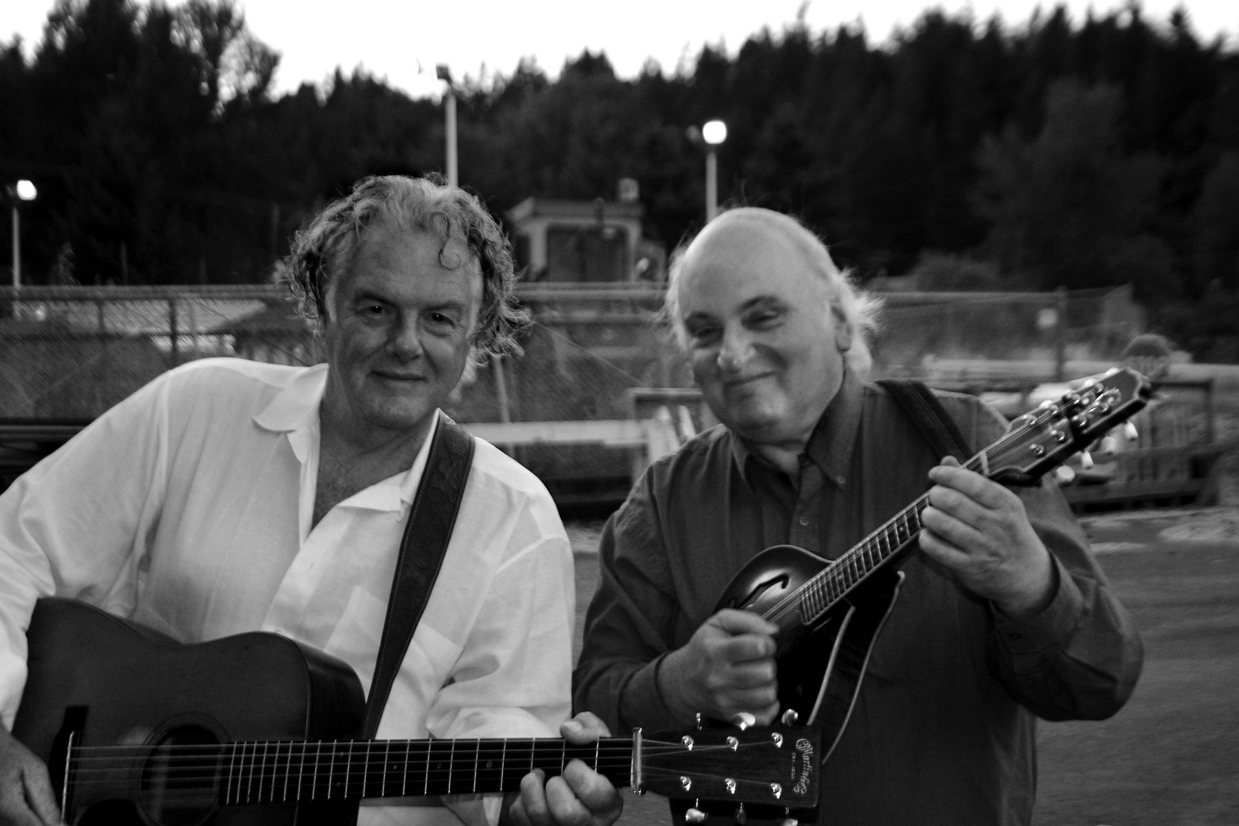 peter rowan and jody stecher. photo courtesy of jody stecher.