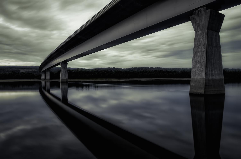 Railway Bridge, Ångermanland, Sweden, July 2014