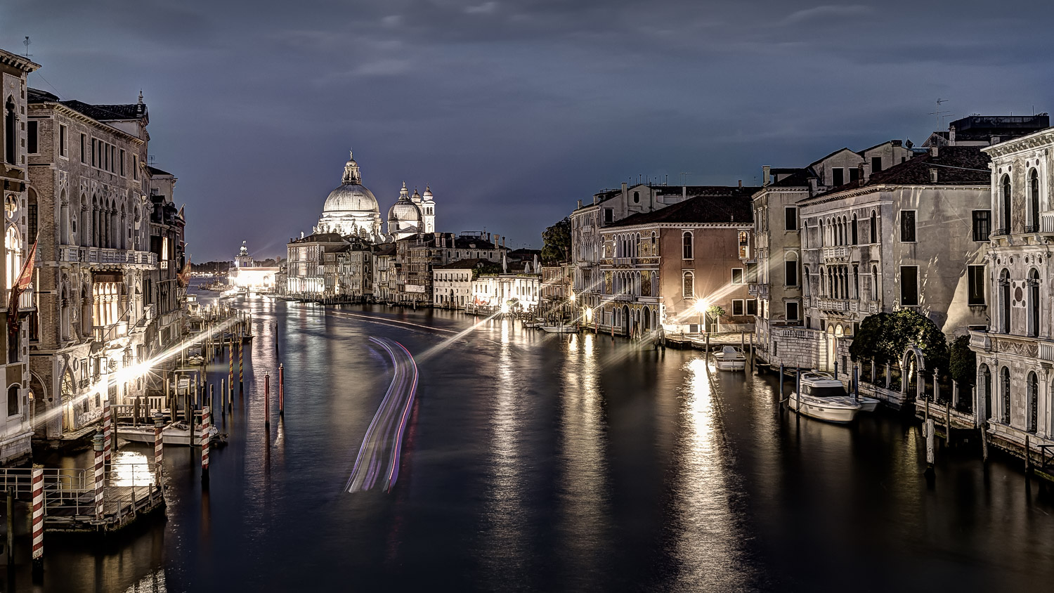 View from Ponte dell' Accademia, Venice, June 2014