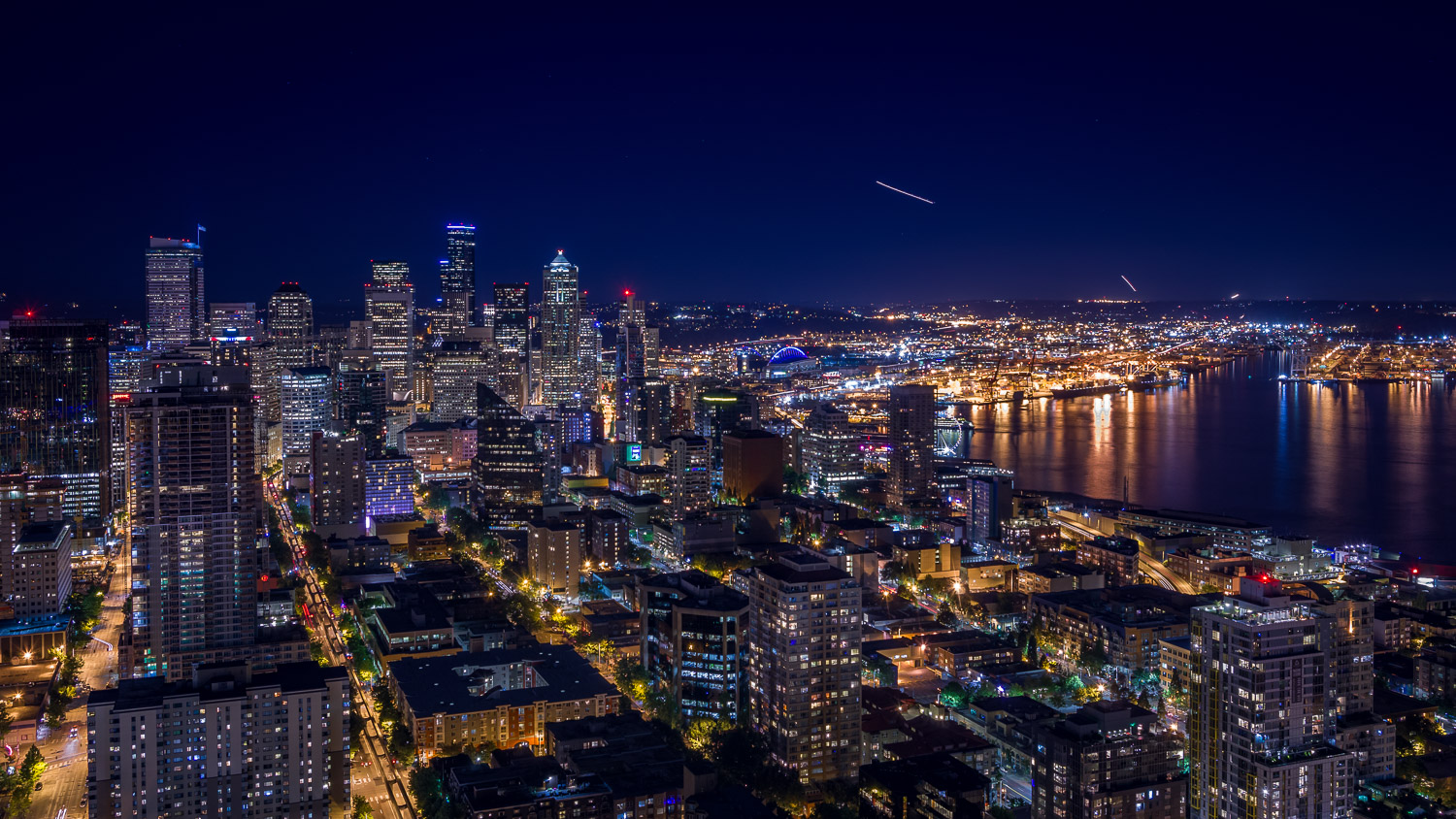 View from the Space Needle, Seattle, WA, June 2015